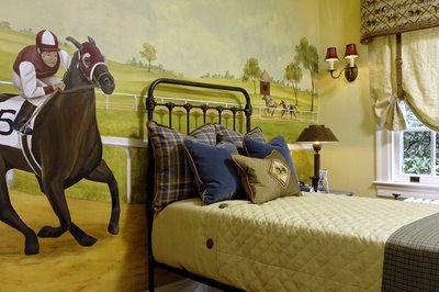 Horse racing theme vacation home interiors for Kristin drohan interior design